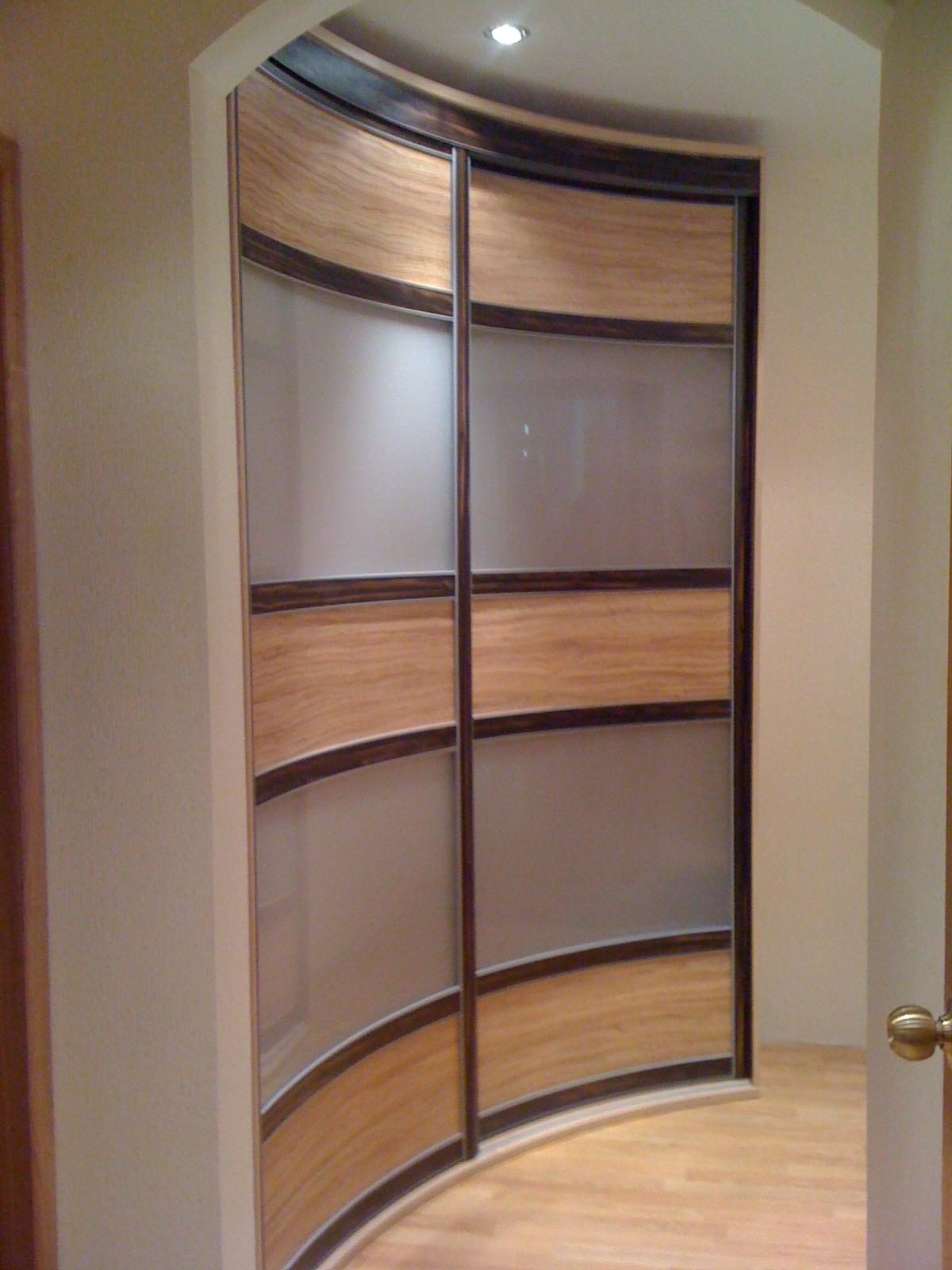 Полукруглая дверь в шкаф своими руками